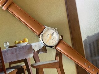 deep beige casio watch
