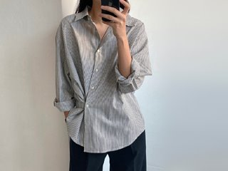 stripe wrap shirt (3c)