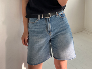 bread denim shorts